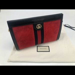 Gucci Ophidia Small Shoulder Cross Body Bag Red